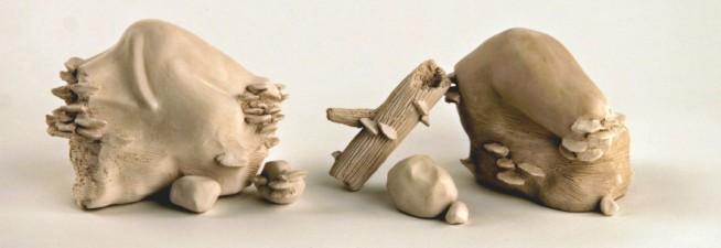 """Host, 2012, white stoneware, 4""""x 12"""""""