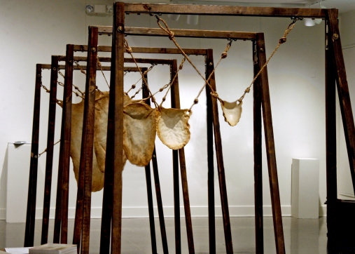 Revealing the Naked, 2013, Porcelain, Wood, Rope, Metal Hardware